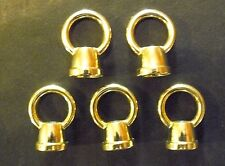 """(5) Brass Plated Loop Finial 1/8"""" IPS (3/8"""" Dia.) with Wire Hole Lamp Part (ML6)"""