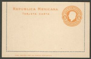 Mexico 1910 50c lettercard unused. HG #A27