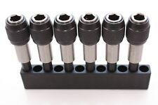 6 St. Bithalter magnetisch Quick-Release Adapter für Hex-Bits 6,35mm mit Halter