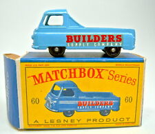 Matchbox RW 60a morris pick-up H 'azul negra ruedas años 24 perfil en Top Box