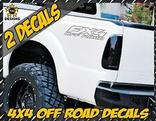 Fx4 OFF ROAD METALLIC SILVER Truck Bed Decal Set for Ford F150 Super Duty Ranger