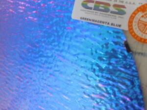 "Dichroic Glass:CBS 90 COE Black Cherry on Granite Ripple Black 3/""Sq"