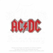ALCHEMY ROCKS England Official Merch Metal Pewter PIN BADGE AC/DC Enamelled Logo
