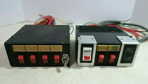 Lot of 2 Federal Signal SW200 12V Switch Box