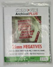 New in Package Clear File Archival Plus 35mm Negatives 100refill pages