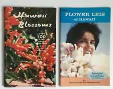Vintage The Flower Leis Of Hawaii & Hawaii Blossoms Books Dorothy Bob Hargreaves