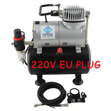 OPHIR 220V Pro Air Tank Compressor for T-shirt Painting Tanning Hobby Nail Art