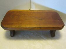 "Primitive Foot Milking Stool Bench Wood handmade Hickory 14 ½"" Farm Chic USA"