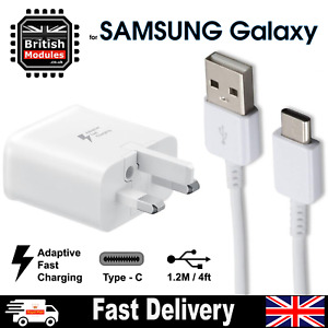 Fast Charger Plug & Cable Type-C for Samsung Galaxy S8 S8+ S9 S10 Plus Note 8 9