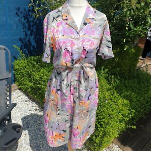 Vintage Posh Lady Co Ord Two Piece Size 10 Floral Made In UK Shirt Shorts