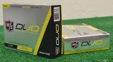 2 Dozen Wilson Staff Duo Yellow Golf Balls - New in Box - Free Shipping!