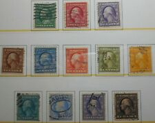 U.S.Stamps: Scott#331,- #342, 1c, - $1,  The Wash.-Frank., Issues of 1908-1909