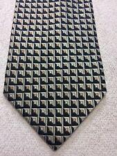 ROBERTO VILLINI MENS TIE BLACK GRAY BEIGE 4 X 61