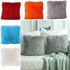 Fluffy Cushion Cover Furry Faux Fur Decorative Soft Pillow Case Plush 43X43CM