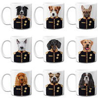 Dog In Uniform Mug Military Portrait Pet Christmas Gift Personalised All Breeds
