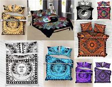 Burning Sun Bedding Comforter Bohemian Reversible Duvet Set Indian Quilt Cover