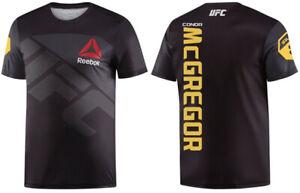 Reebok Men's UFC FK CMG Jersey Thermal T-Shirt, Black/Negro/Gravel- AU2874