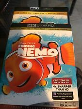 New listing Finding Nemo 4K & bluray and slipcover never used only opened for digital code