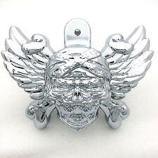 """Chrome Skull head horn cover For 92-16 Harley w/side mount """"cowbell"""" all V-rod's"""