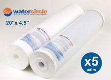 """5 x (20"""" x 4.5"""" 5 micron Activated Carbon & Poly water filter for Big Blue)"""