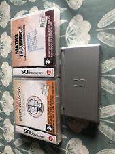 Nintendo DS Lite-Plata-con 2 Juegos