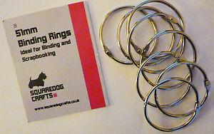 50mm METAL BINDING RINGS 10 PK - IDEAL FOR BINDING AND SCRAPBOOKING
