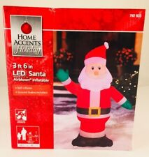 """New! Home Accents 3 Ft 6 """" LED Airblown Inflatable Santa #792 933"""