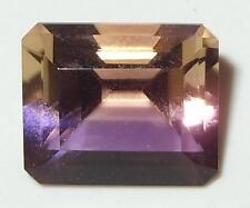 7.64ct Stunning Natural Bolivian Ametrine Emerald Cut 13x11mm SPECIAL