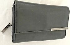 "Black 3.5X5.5"" Leather ENZO ANGIOLINI Wallet Purse with 20 Pockets"