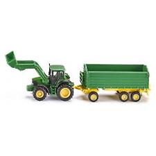 Tractor Front Loader Trailer SIKU 1843 John Deere Green 1 87