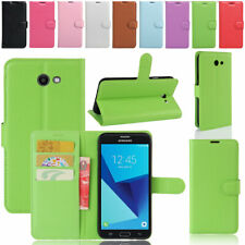 For Samsung Galaxy J7 J5 J3 Prime Leather Card Slot Wallet Flip Stand Case Cover