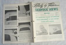 GENERAL MOTORS -- BODY BY FISHER SERVICE NEWS -- 1951 Convertible Top Operation