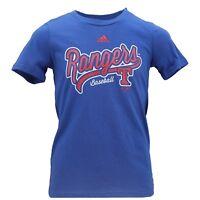 Texas Rangers Official MLB Genuine Adidas Apparel Kids Youth Girls T-Shirt New