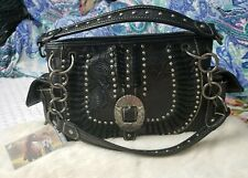 Montana West American Bling Handbag *FLAW SEE FULL* Concealed Carry Purse Black