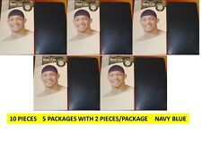 STOCKING WAVE CAPS NAVY BLUE 10 PCS KNIT DURAG DOORAG TITAN - USA SHIPPER