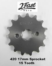 2FastMoto 17mm Engine Sprocket Front Countershaft 15T Z50 420 Chain Mini Bike