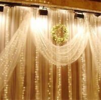 10M 100LED Window Curtain Icicle String Fairy Light Wedding Birthday Party Decor