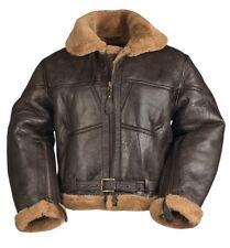 British RAF AIRFORCE Bomberjacke Lammfell Lederjacke Jacke Leather Jacket Large