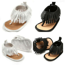Newborn Baby Girl Crib Shoes Silver Black Infant Inhouse Crawling Summer Sandals
