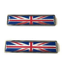 Stainless Metal Union Jack Flag of UK Sticker Emblem For Mini Cooper