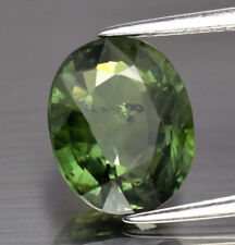 4.79 CT CERTIFIED OVAL NATURAL GREEN SAPPHIRE, HEATED, THAILAND