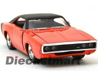 1970 DODGE CHARGER R/T ORANGE 1:24 DIECAST MODEL CAR BY JADA 97595