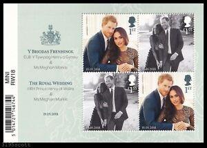 2018 GB Royal Wedding Harry & Meghan MS4092 Barcode Miniature Sheet UM MNH