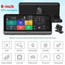 8''Dual Lens Auto DVR Kamera 4G WIFI Android5.1 GPS Navi Bluetooth ADAS Dashcam