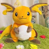 Original Large Pokemon Raichu Plush Doll Poke Toy Pocket Monster 34cm Gift