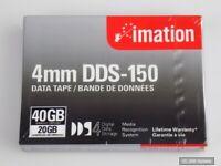 IMATION 40963 DDS-4 DATA TAPE 4MM 150M 20GB Cartridge DDS4 Datenkassette, NEU