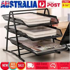 3 Tier A4 Paper Tray Desk Document File Organiser Metal Mesh Holder Home OFFICE