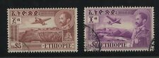 ETHIOPIA 1947 AIRMAILS $5 + $10 VERY FINE USED...Lot 2