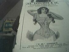 magazine item 1895 - advert jas schoolbred ladies underclothing tottenham court