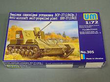 UM Model 1/72ANTI AIRCRAFT TANK ZSU-37   Model  Kit -NEW-  #wwa1